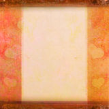 Grunge Frame For Congratulation With hearts Stock Photography