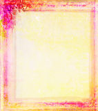 Grunge Frame  With Flower Royalty Free Stock Photos