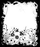 Grunge frame flower, elements for design, vector. Illustration Stock Images