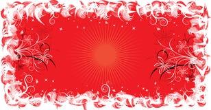 Grunge frame flower, elements for design, vector Royalty Free Stock Photo