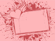 Grunge frame with heart royalty free illustration