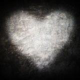 Grunge frame , heart shape gray color, Valentines Day.  Royalty Free Stock Photos