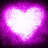 Grunge frame , heart shape purple color, Valentines Day Royalty Free Stock Photo
