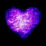 Grunge frame , heart shape purple color, Valentines Day Royalty Free Stock Photography