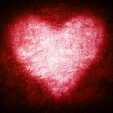 Grunge frame , heart shape red color, Valentines Day.  Royalty Free Stock Photo