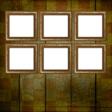 Grunge frame from old papers Royalty Free Stock Photo
