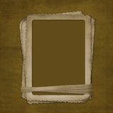 Grunge frame for photo on the abstract background Royalty Free Stock Photography