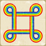 Grunge frame rainbow background. Vector Royalty Free Stock Photos
