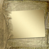 Grunge frame with ribbon and bow Royalty Free Stock Photo
