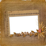 Grunge frame in scrapbooking style Stock Image