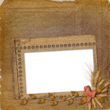 Grunge frame in scrapbooking style Stock Images