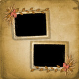Grunge frame in scrapbooking style Royalty Free Stock Images