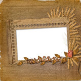 Grunge frame in scrapbooking style Stock Photos