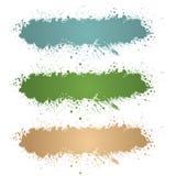 Grunge frame set.Color grunge background.Vector design template Stock Photography