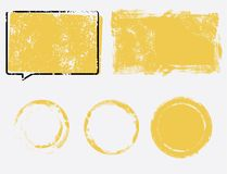 Grunge frame set. Vector template texture design element royalty free illustration