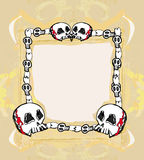 Grunge Frame with skull Royalty Free Stock Image