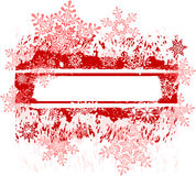 Grunge frame & snowflakes Royalty Free Stock Photography