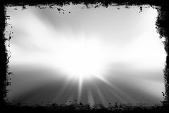 Grunge frame with sunlight Royalty Free Stock Photos