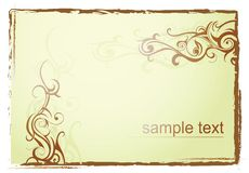 Grunge frame with swirls Stock Images