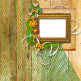 Grunge frame in the Victorian style Royalty Free Stock Images