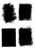 Grunge frames. Four grunge frames in white background Stock Photos