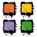 Grunge frames stock illustration