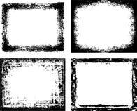 Grunge frames. Vector grunge ink frames set Stock Photo