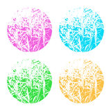 Grunge frames-07. Abstract floral frames set isolated on white background. Design elements for banners or flyers vector illustration