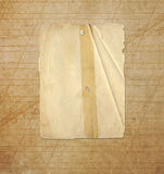 Grunge frames on the ancient paper background Stock Image