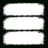 Grunge frames. Black illustration Stock Images