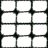 Grunge frames. 12 frames illustration Stock Images