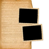 Grunge frames from old papers Stock Images