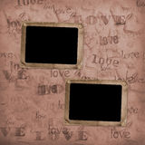 Grunge frames for old portrait or picture Royalty Free Stock Photo