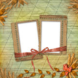 Grunge frames in scrapbooking style Royalty Free Stock Photography
