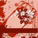 Grunge Framework With Flowers Stock Image