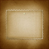 Grunge frameworks for invitation with thumbtacks Royalty Free Stock Images