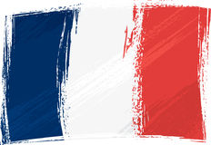 Grunge France flag. France national flag created in grunge style