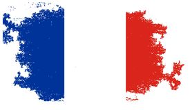 Grunge france flag. Abstract background Royalty Free Stock Photography