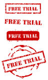 Grunge Free trial stamps Stock Photo