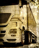 Grunge Freight container delivery vehicle Royalty Free Stock Images