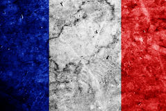 Grunge French  flag Stock Images