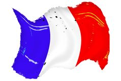 Grunge French Flag Stock Photo
