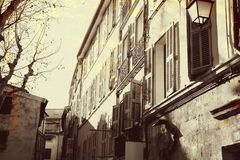Grunge french street Stock Photo