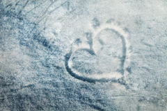 Grunge frozen heart sign Royalty Free Stock Photo