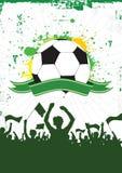 Grunge Fußball-Hintergrund 1 Lizenzfreies Stockbild