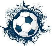 Grunge Fußball-Ikone vektor abbildung