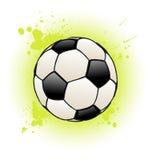 Grunge Fußball-Kugel Lizenzfreie Stockbilder