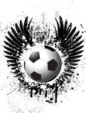 Grunge Fußballhintergrund Lizenzfreie Stockfotografie