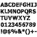 Grunge full alphabet Royalty Free Stock Images