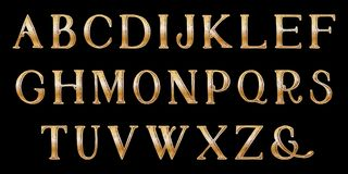 Grunge full alphabet. Hand draw. Vector letters. Stock Image